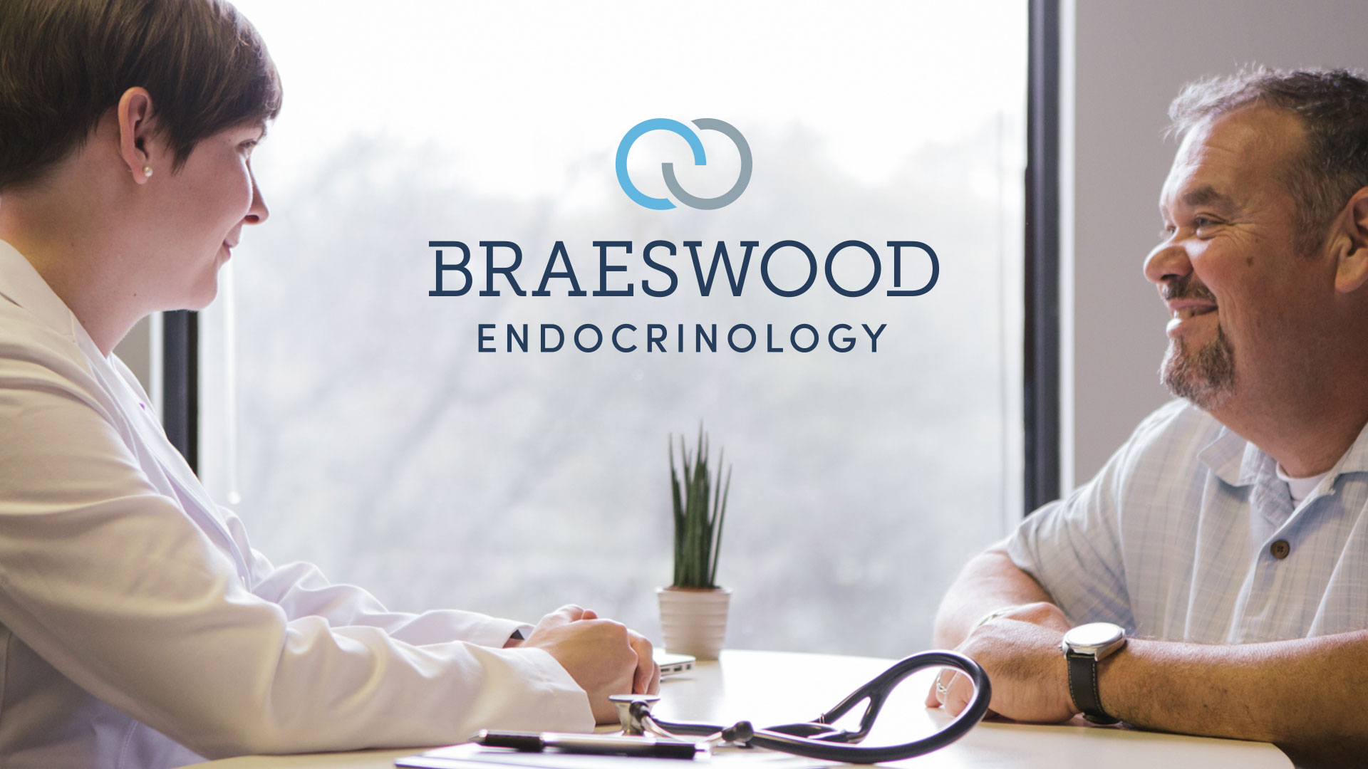 Braeswood Endocrinology medical practice branding logo design