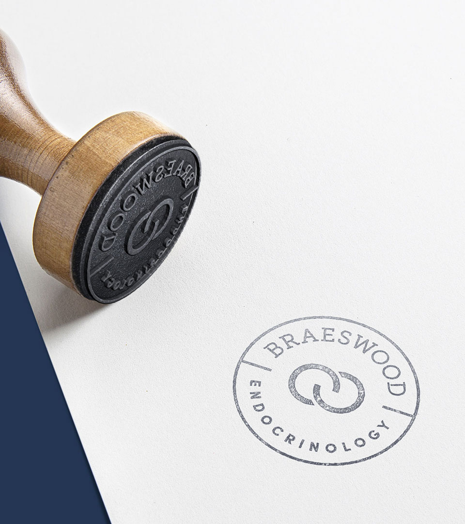 Braeswood Endocrinology medical practice branding stamp