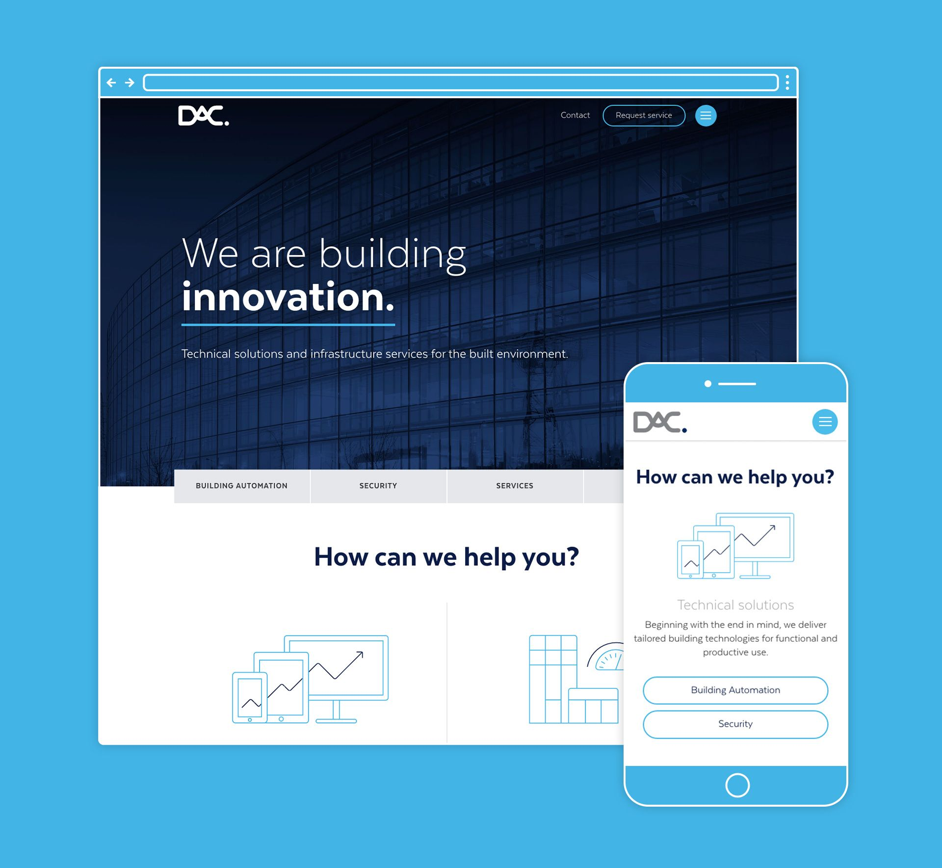 DAC website design
