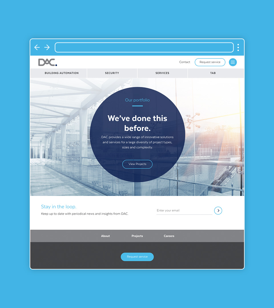 DAC responsive website design