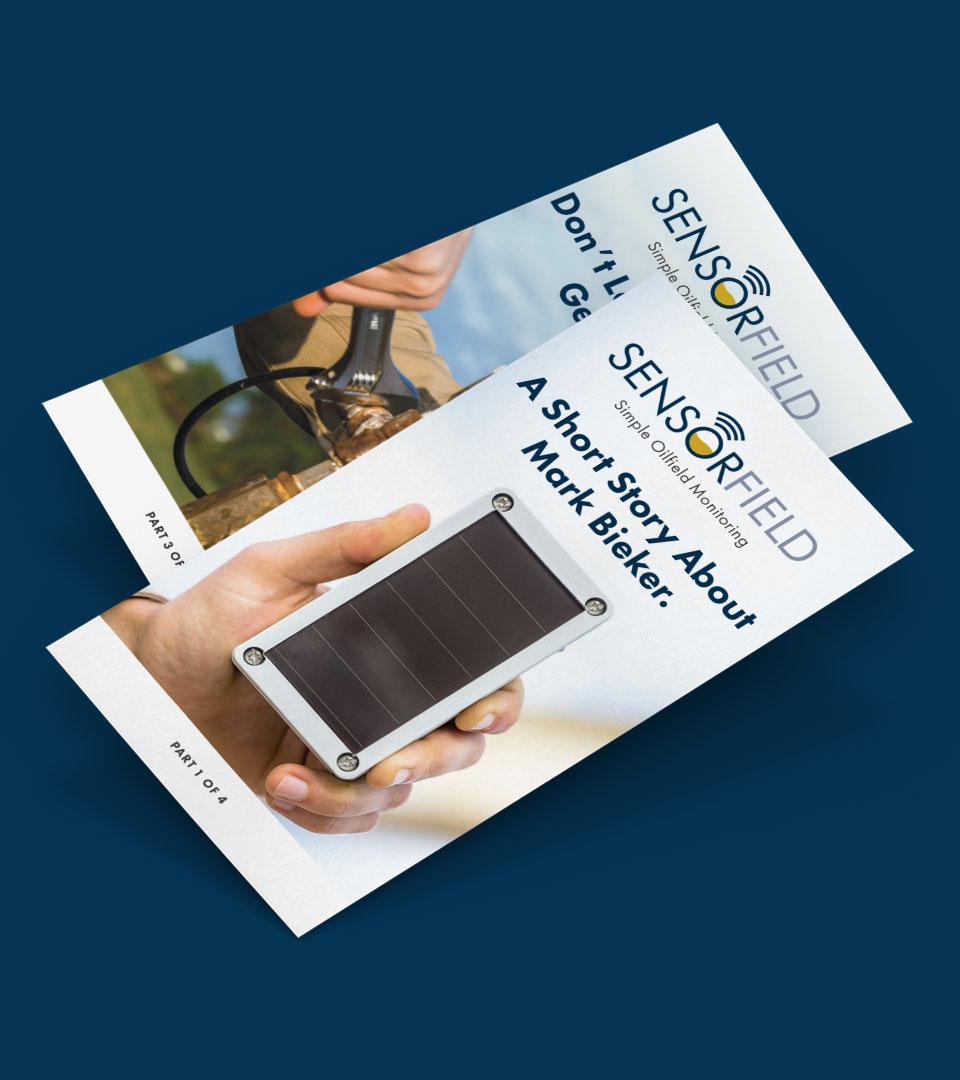 Sensorfield Startup postcards