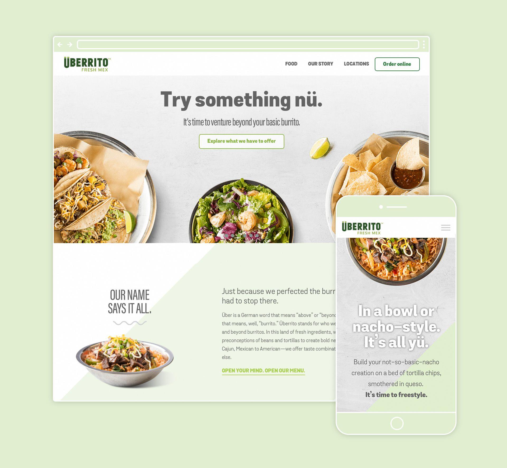 Uberrito fast-casual restaurant website
